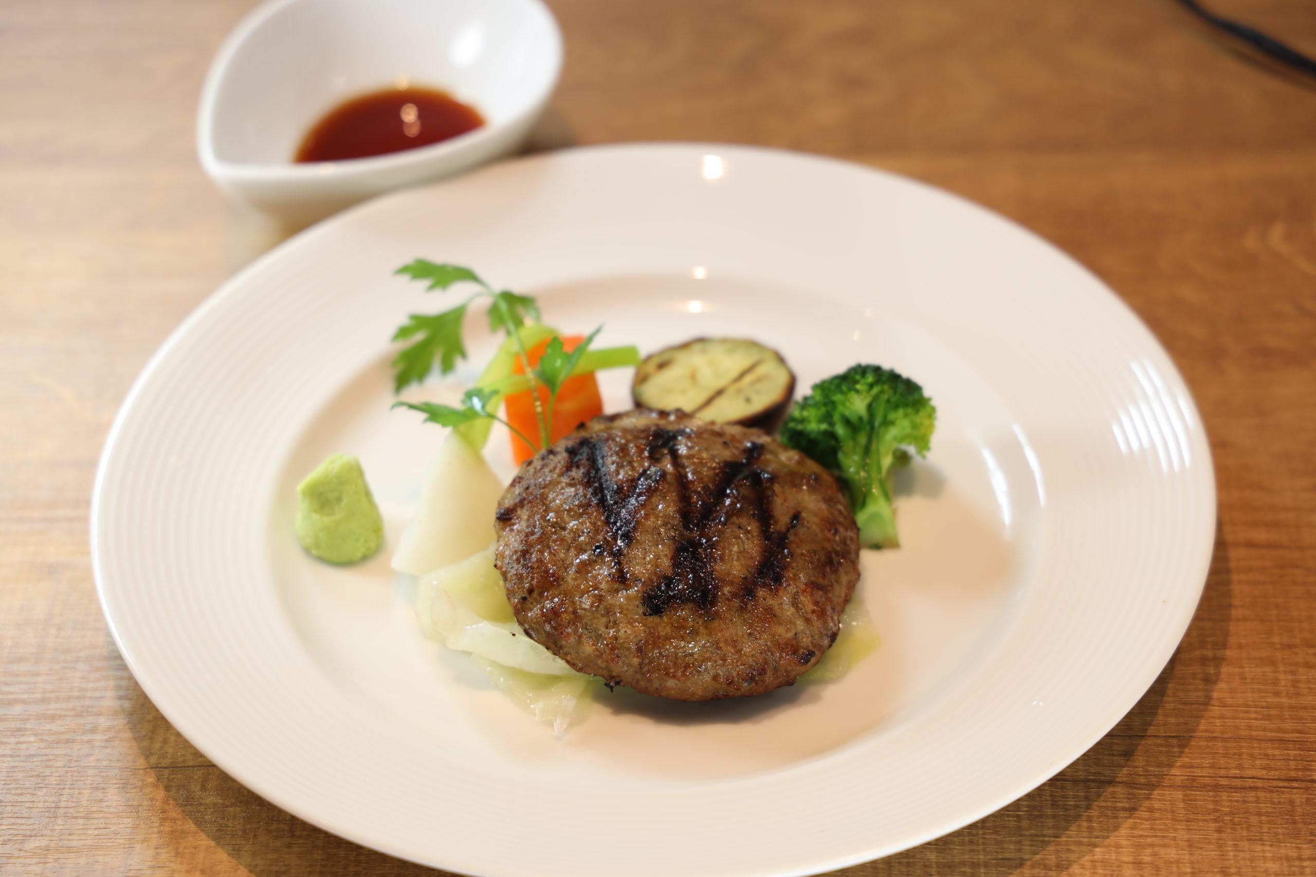 ハンバーグステーキ ワサビ醤油